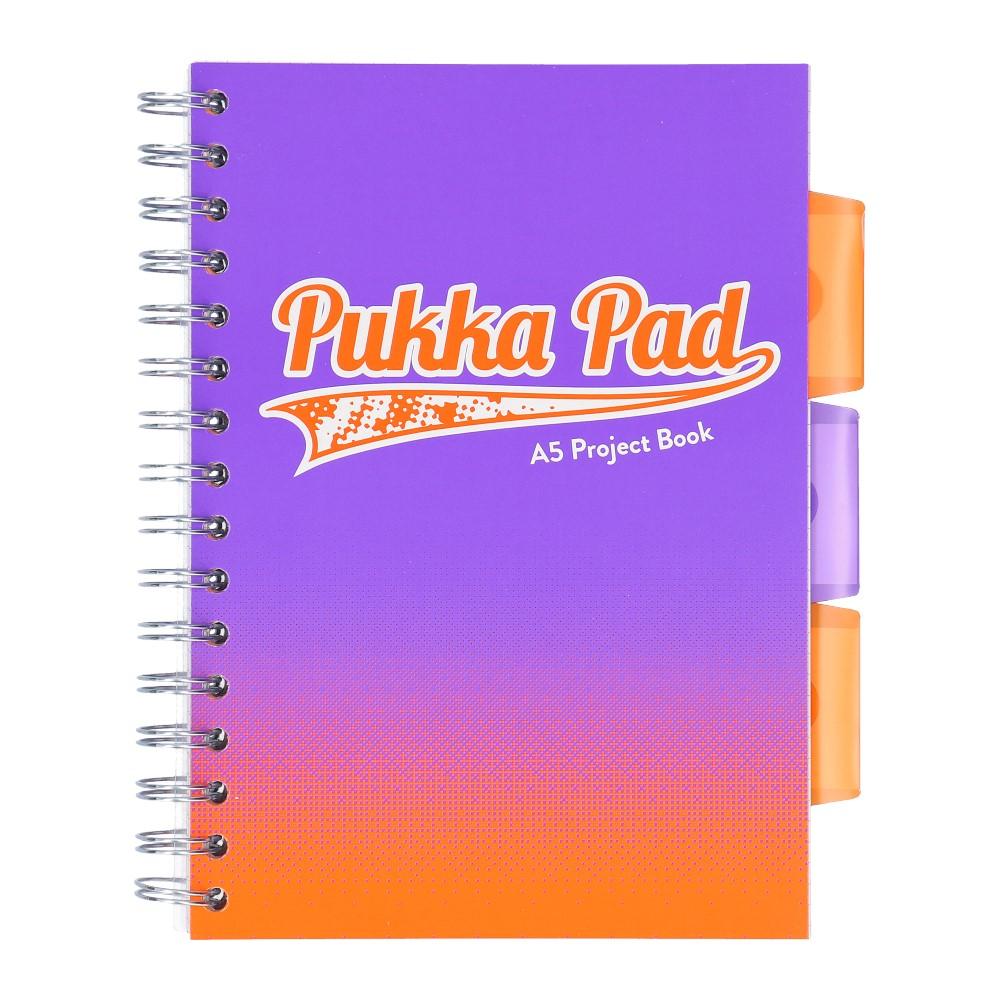 Kołozeszyt Pukka Pad Project Book Fusion w kolorze fioletowym a5 200 KARTEK