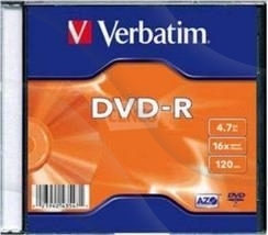 Dvd+R Verbatim Slim 4.7Gb 16X