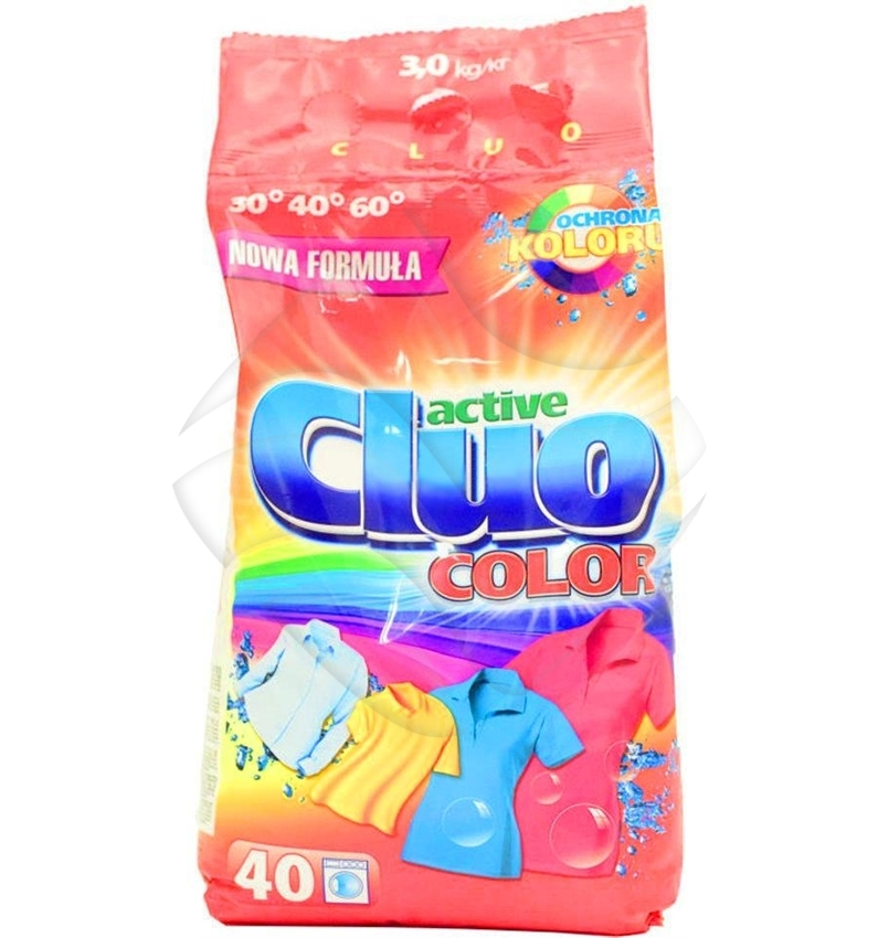Cluo Active Proszek do Prania 3kg Kolor